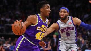 Donovan_Mitchell_Utah Jazz v Detroit Pistons