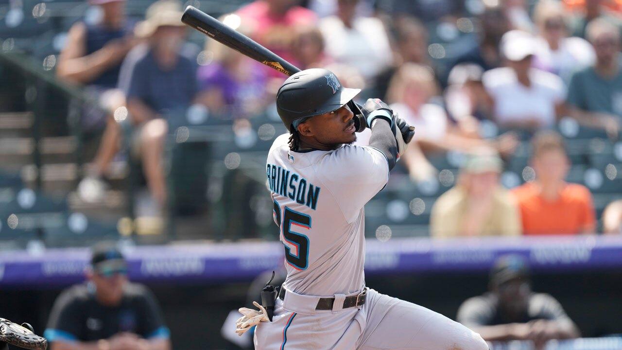 Lewis Brinson, Miami Marlins outfielder