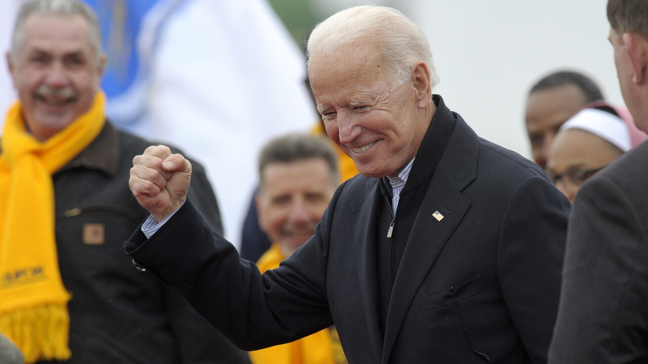 Biden enters race as frontrunner