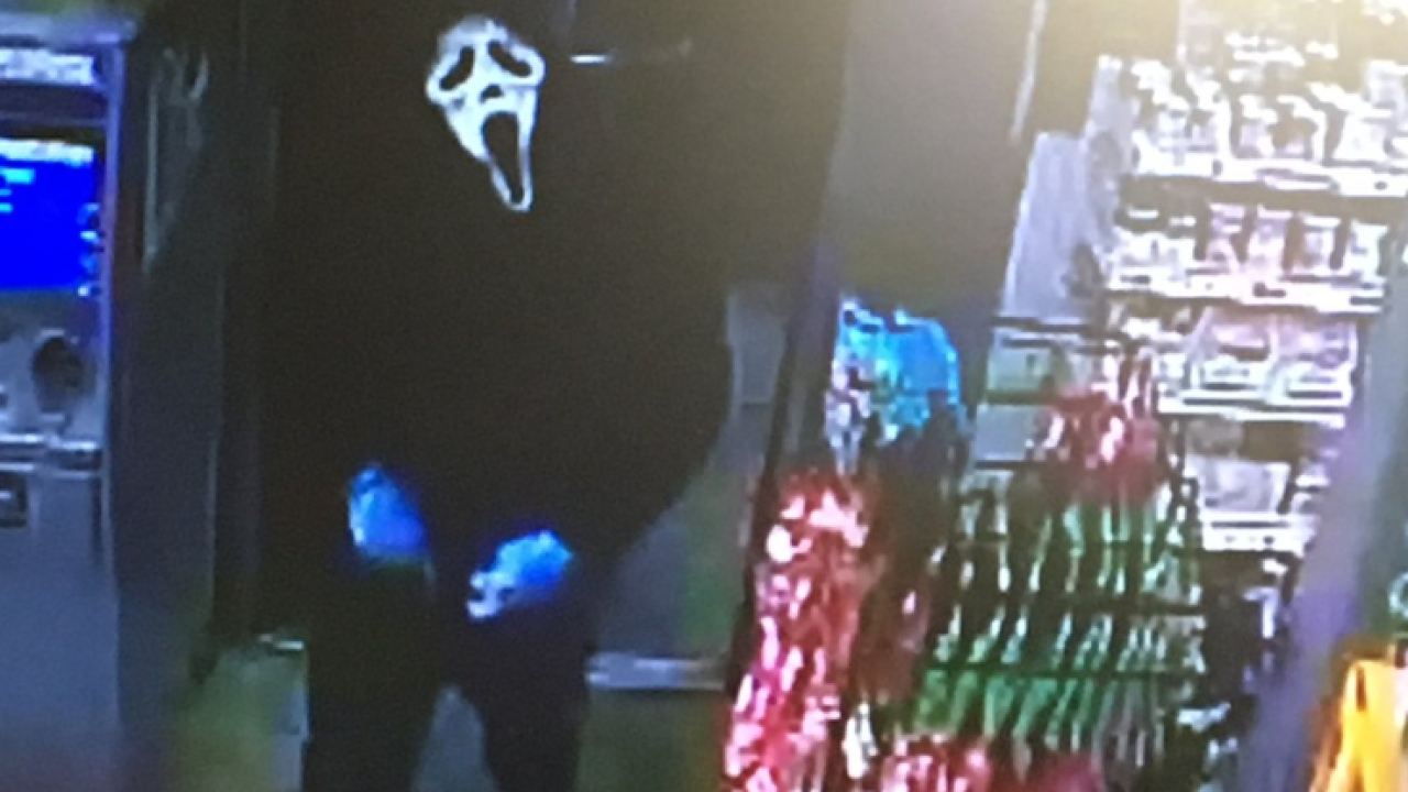 Armed suspect donning 'Scream' mask attempts to rob Chesterfield gasstation