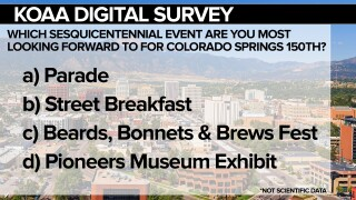 KOAA Survey: Which sesquicentennial event are you most looking forward to for Colorado Springs 150th?
