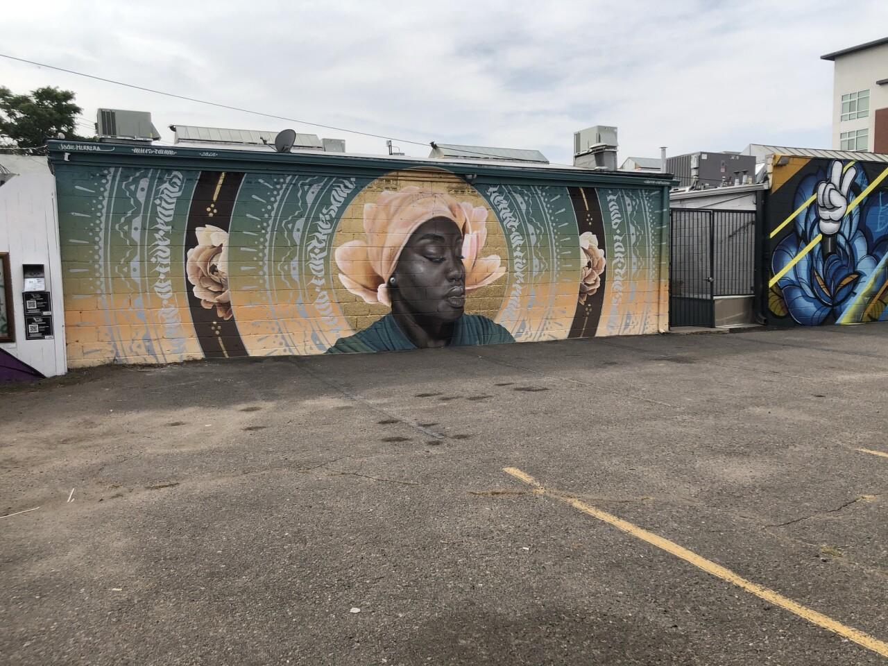 Queen Fathima mural
