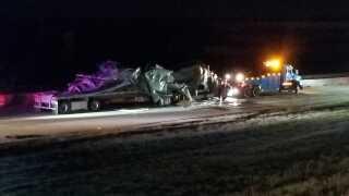 2 semis crash on Interstate 70 at E470