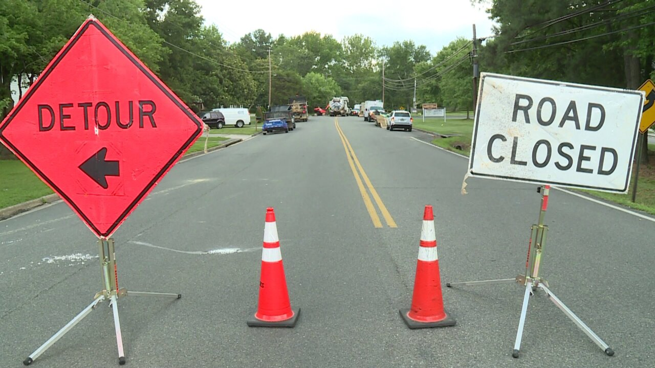 Three Chopt Road closed for repairs Monday morning