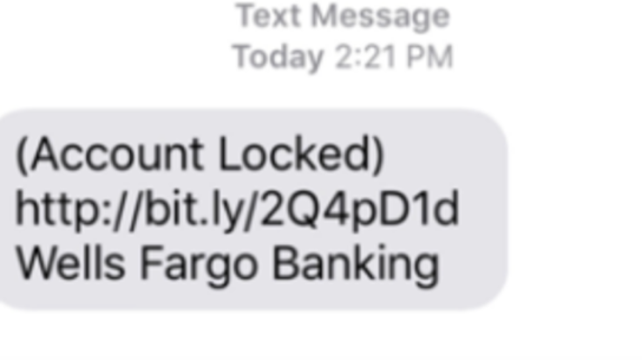 Watch out for phony text messages claiming to be your bank