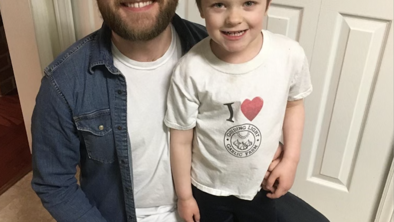 Dan Kostecke and his son