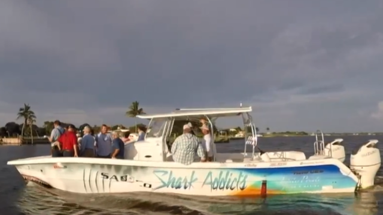Candidates for governor continue to tour the St. Lucie River leading up to the primary election