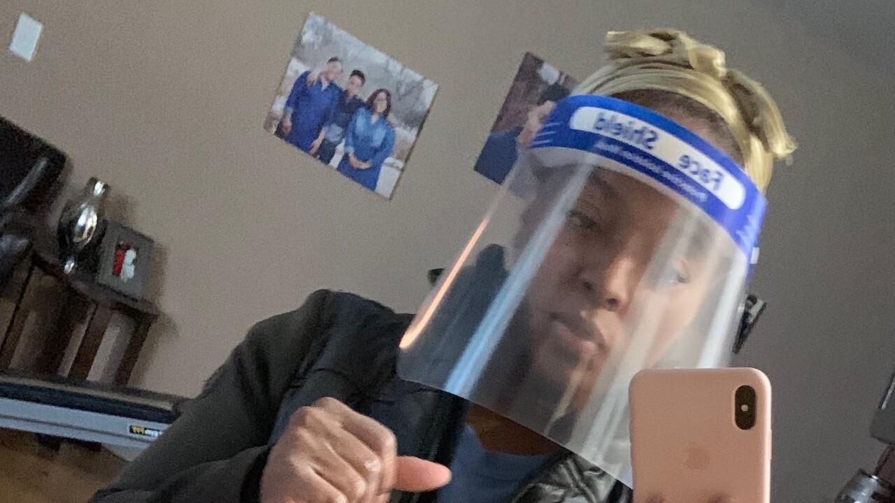 face shield salon