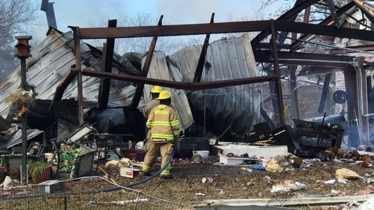 Crews working possible explosion in Mayes County