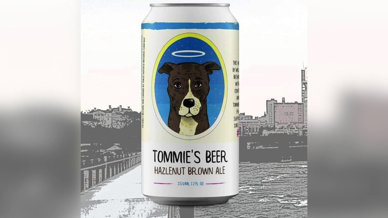 Hazelnut brown ale named after Tommie the dog will benefit Richmondshelter