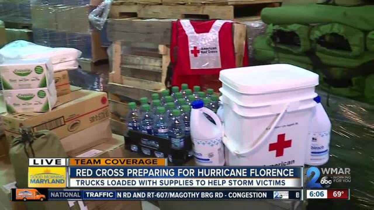 The Red Cross gears up as Florence approaches
