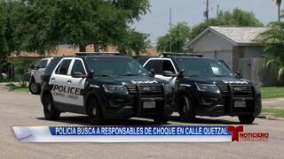 Policía busca a responsables de choque en calle Quetzal