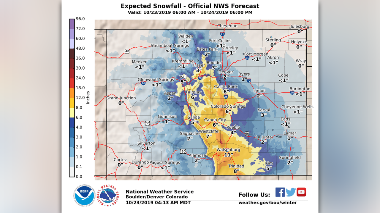 Colorado snow forecast: How much to expect and where