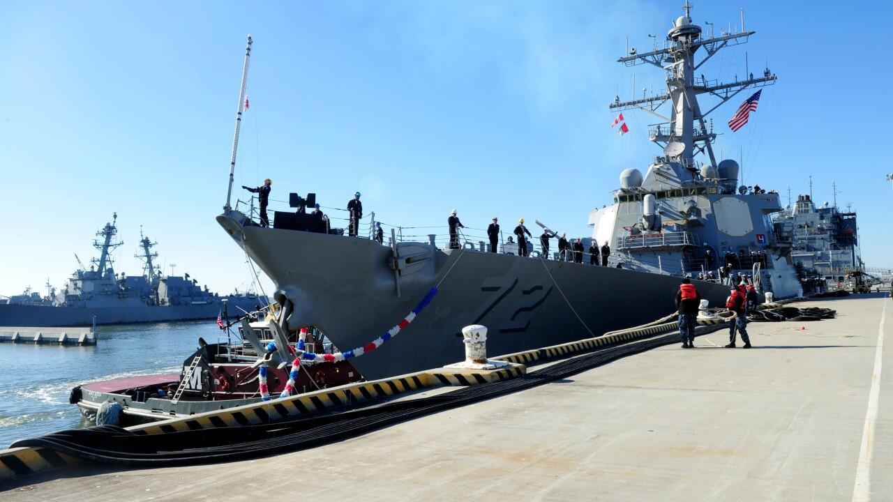 USS Mahan homecoming