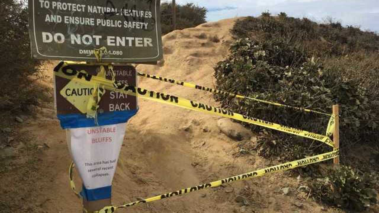 Del Mar bluff collapses for second time