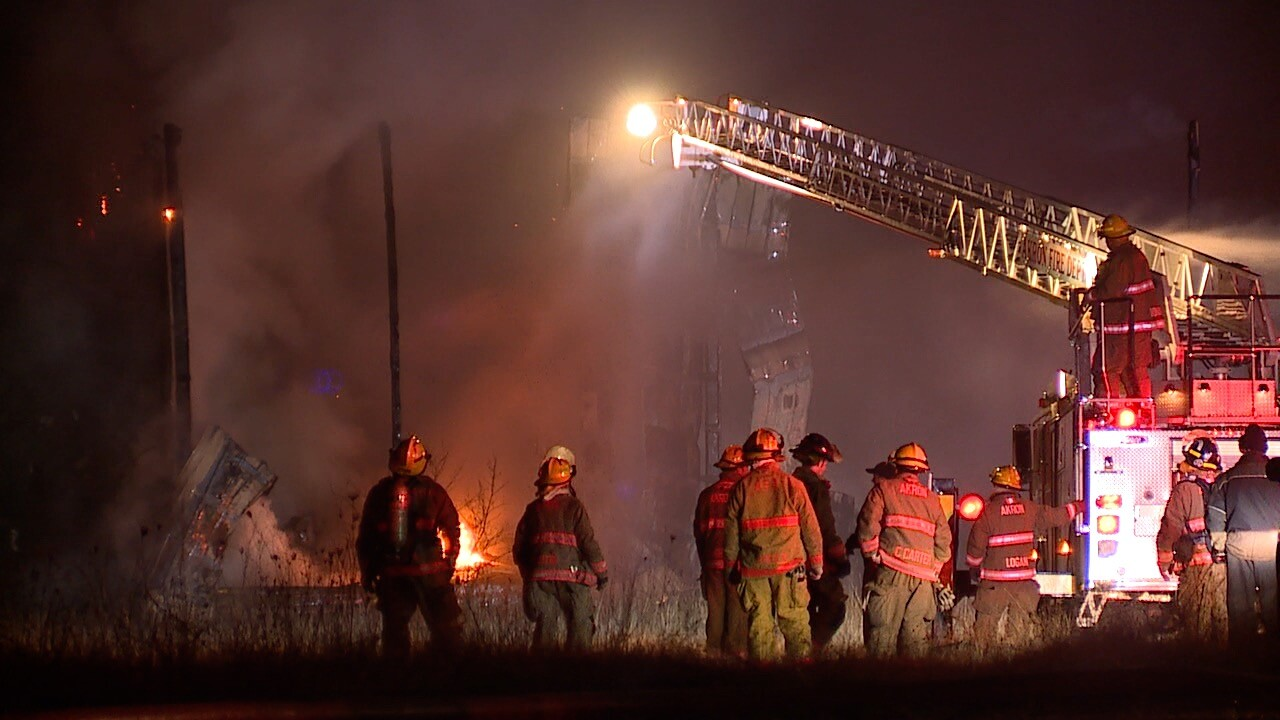 Warehouse fire on 1420 East Archwood in Akron.
