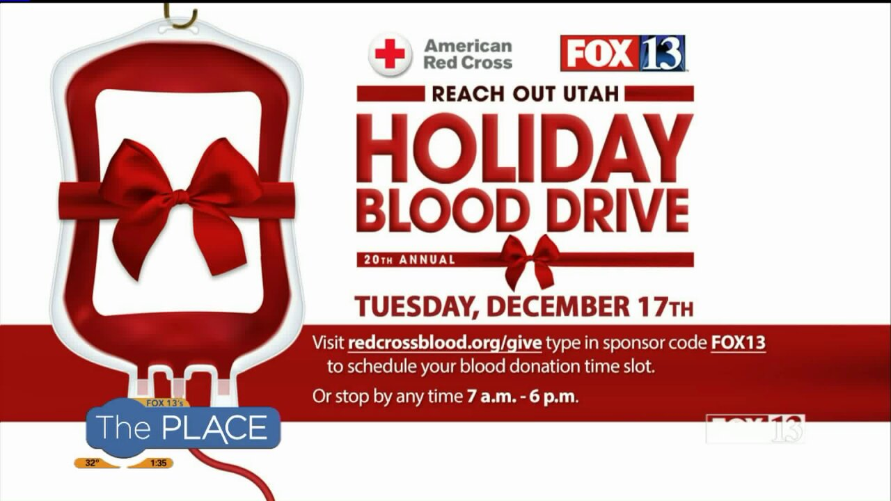 This is how you can take part in this year's 'Reach Out Utah Holiday BloodDrive'