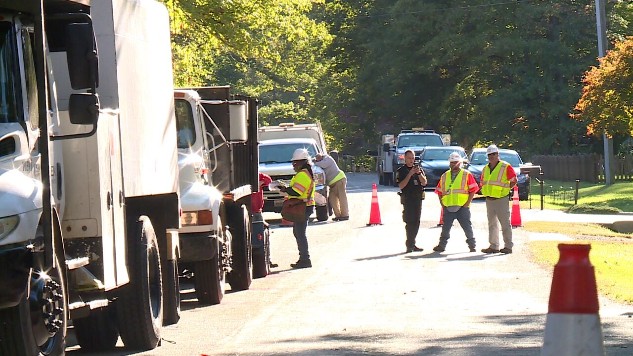 Tree worker killed after being struck by truck on Chesterfield road