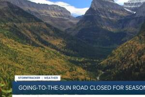 Going-to-the-Sun Road closes early for season