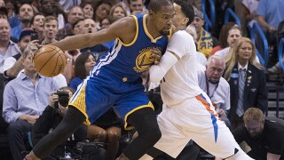 PHOTOS: OKC Thunder takes on Golden State Warriors at Chesapeake Energy Arena
