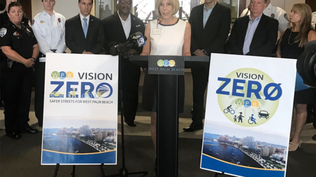 West Palm Beach announces plan to reduce crashes involving pedestrians, bicyclists and cars