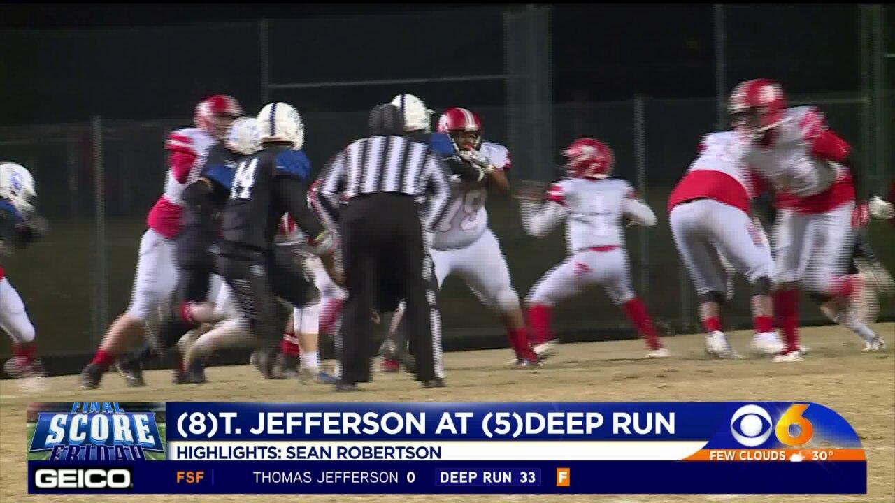 Deep Run blanks TJ 33-0 to complete undefeated regularseason