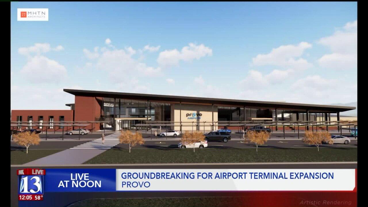 Crews break ground on new terminal that will add four gates to Provo MunicipalAirport
