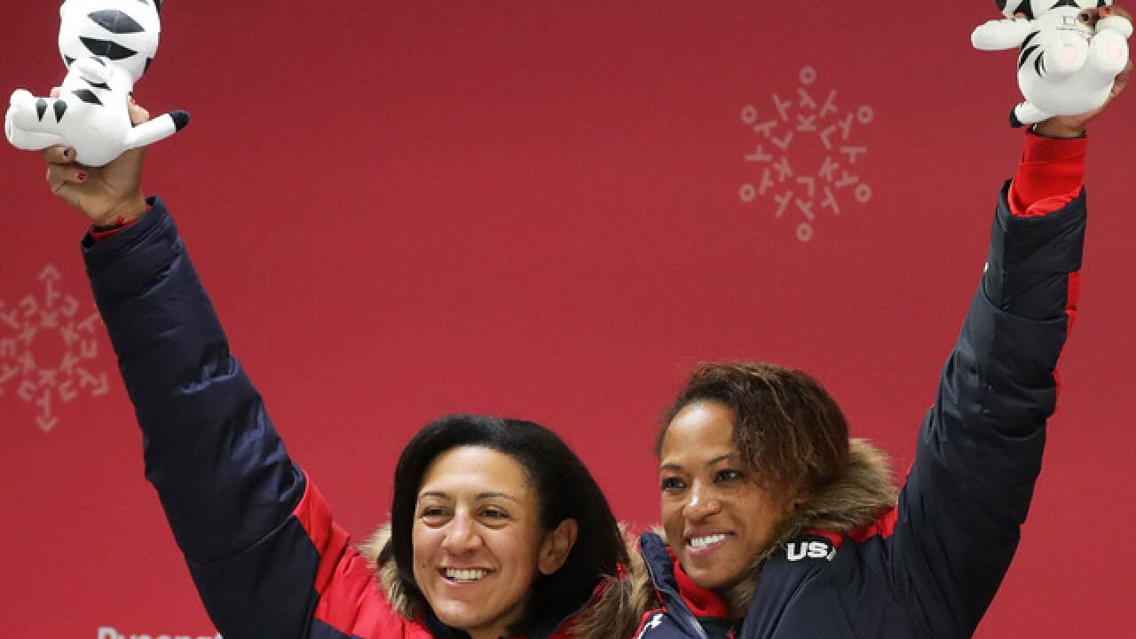OLYMPICS: Meyers Taylor and Gibbs take home silver in women's bobsled