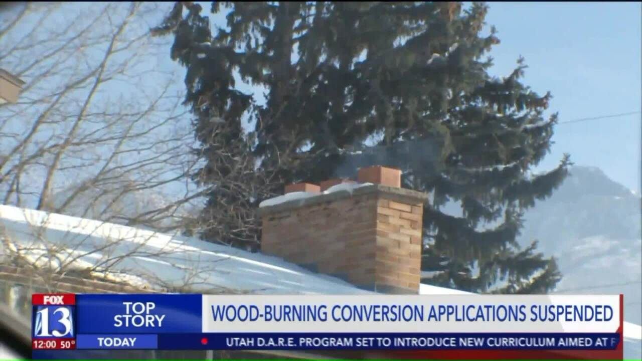 Grant to help Utahns convert wood stoves to gas burns through allotted funds in less than 24 hours