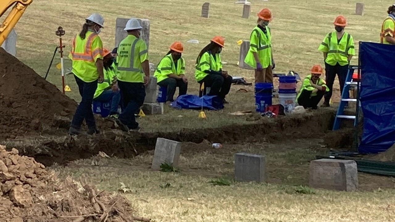 Archaeologists identify mass grave with at least 10 coffins in Tulsa Race Massacre investigation