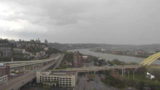 Clouds downtown Cincinnati