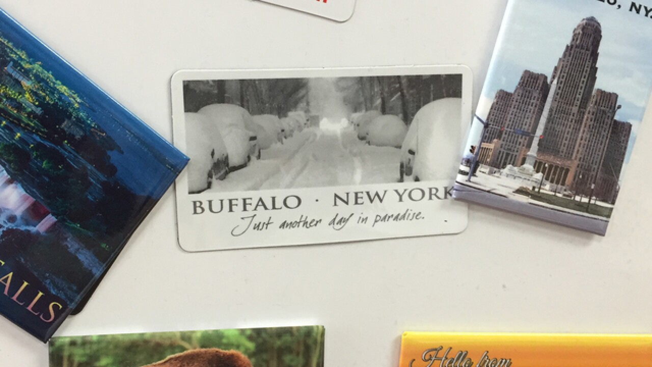 What should replace fake photo of Buffalo?