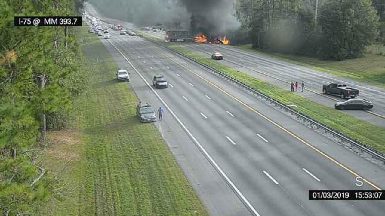 Fatal Crash-Interstate Fire-Florida