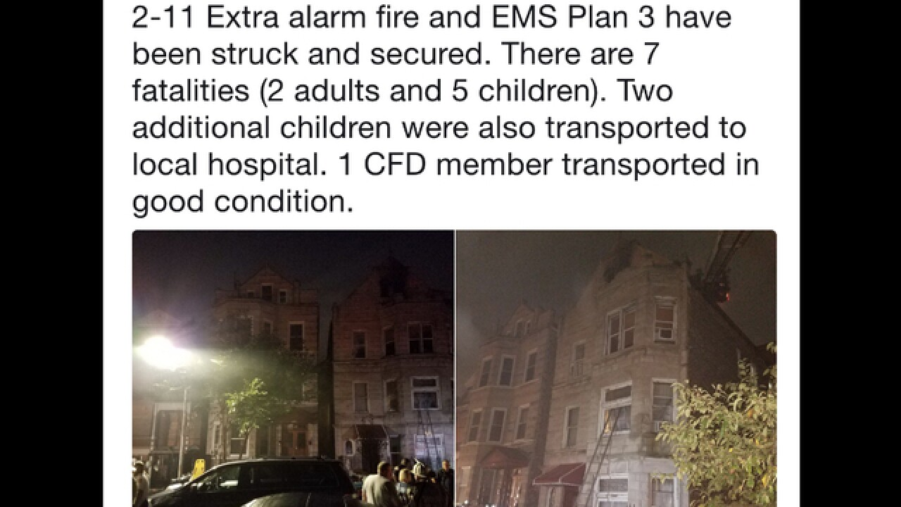 Chicago fire kills 8 people, including 6 kids, in a home with no smoke detector