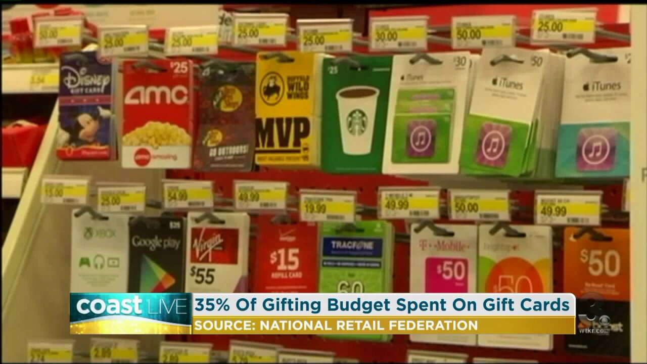 Advice for holiday gift card shopping and gifting on Coast Live