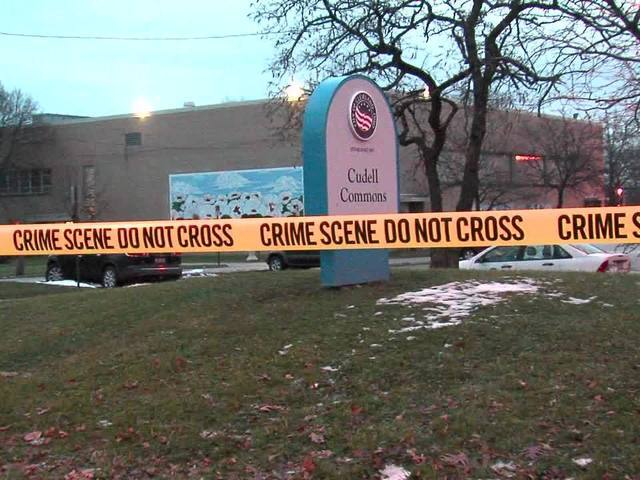 Crime scene tape surrounds Cudell Rec Center after Tamir Rice's shooting