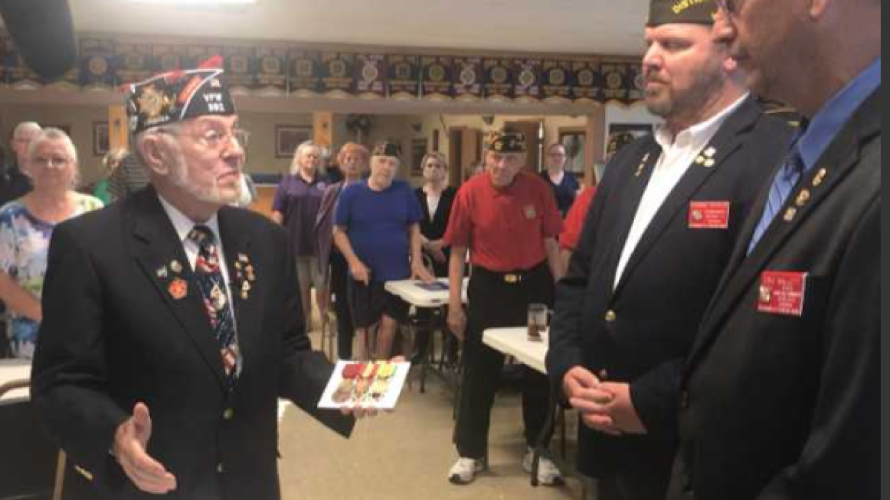 VFW takes action to replace elderly man's stolen Navymedals