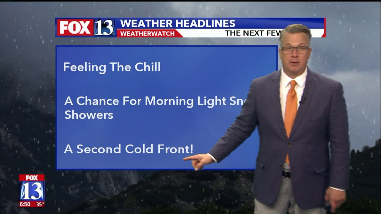 Multiple cold fronts to hit Utah this week
