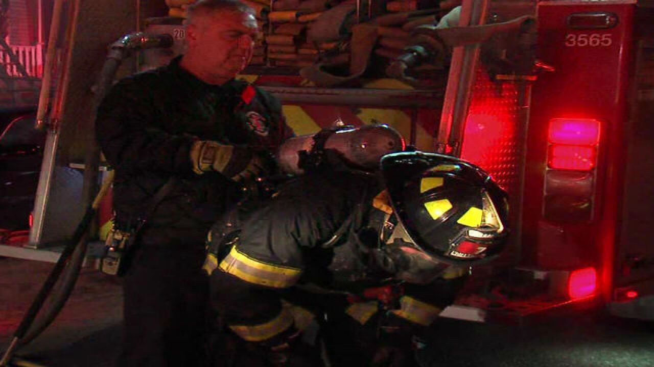Firefighters use pet oxygen masks after fire