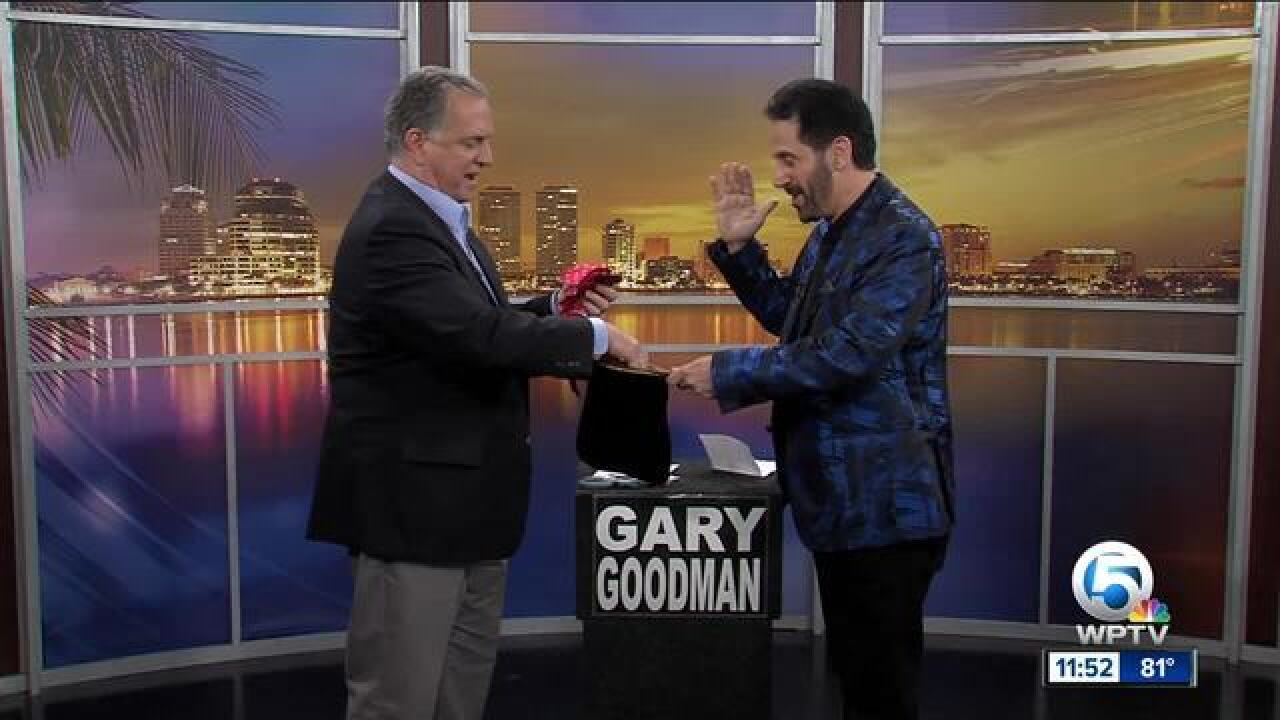 Magician Gary Goodman performs in Boca Raton April 4