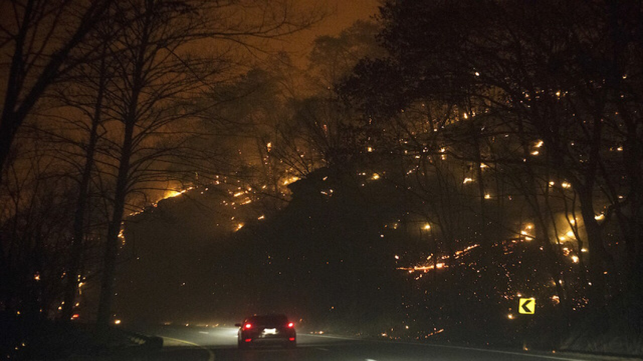 Photos: Wildfire in Gatlinburg, Tennessee