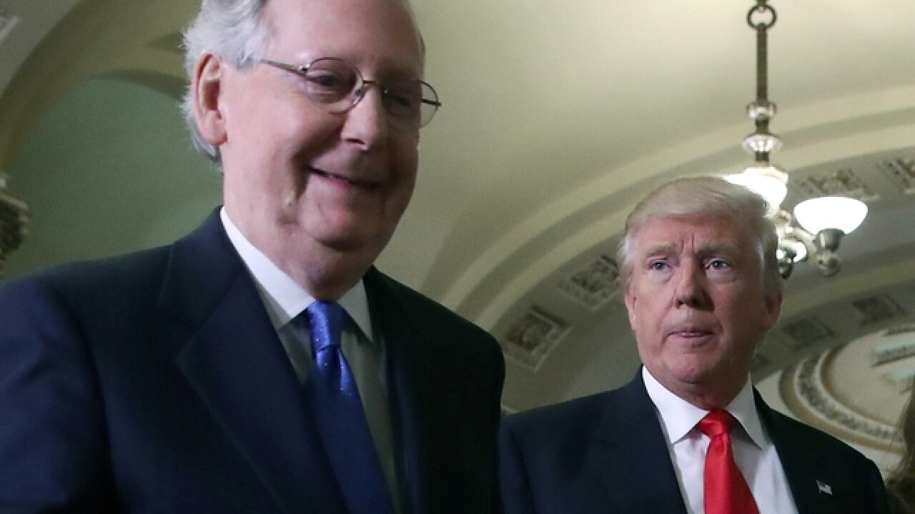 President Trump says he and Mitch McConnell are 'closer than ever before'