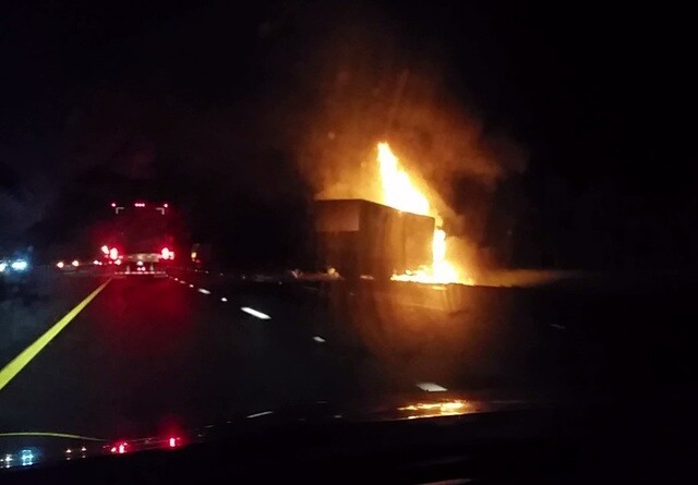 Photos: Deadly truck fire on I-75 in North Port