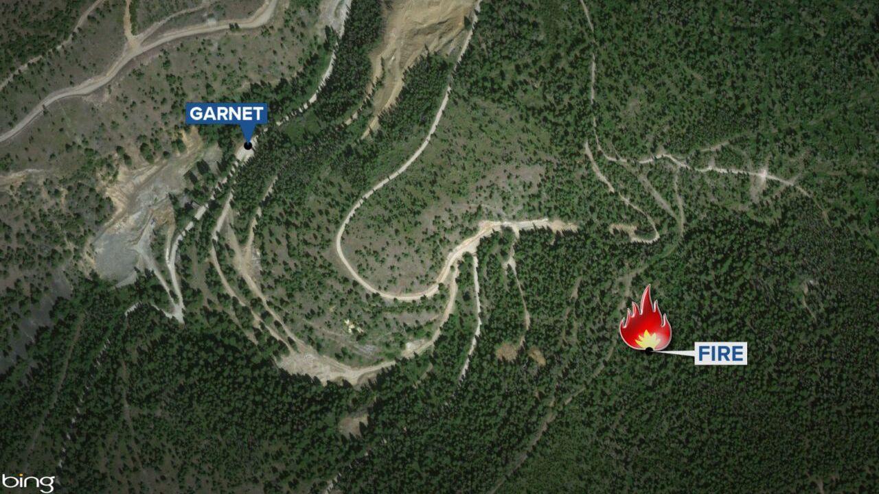 Wildfire near Garnet Ghost Town