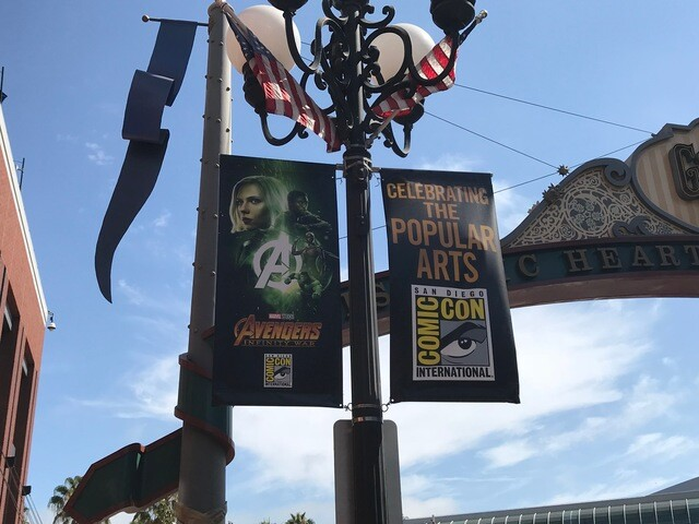 Signs of Comic-Con downtown