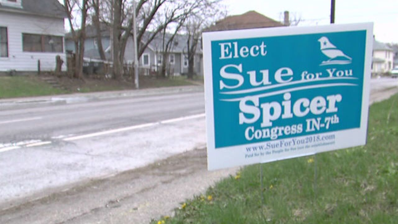 Campaign signs stolen from Indy Congressional candidate
