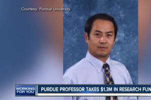 Purdue professor take $1.3 million in research funds