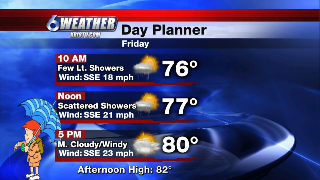 6WEATHER Friday Day Planner