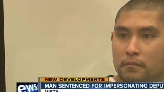 Vista man sentenced for impersonating deputy