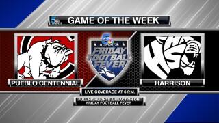 Friday Football Fever Game of the Week: Pueblo Centennial @ Harrison High School